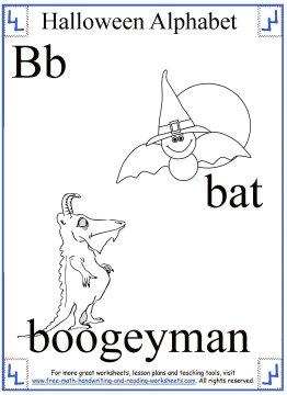 halloween coloring B
