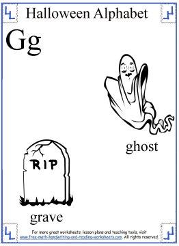 halloween coloring G