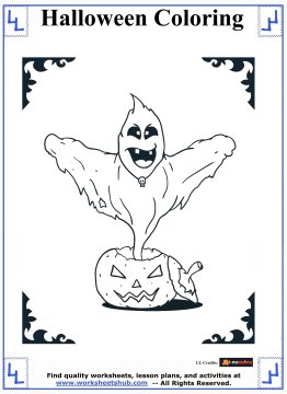 coloring pages on ghosts reading - photo#27