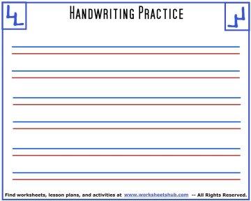 handwriting sheets 6