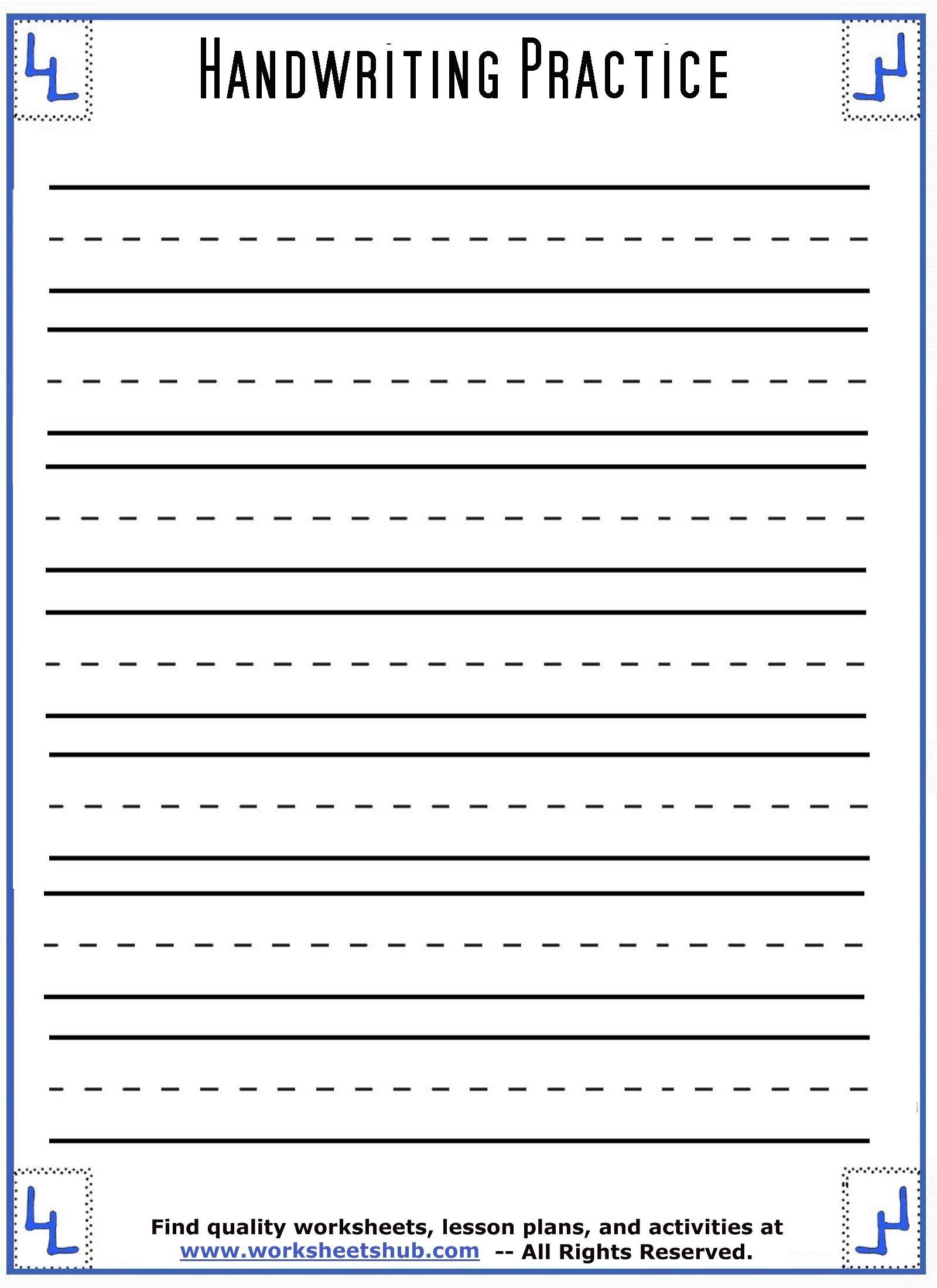 handwriting sheets 1