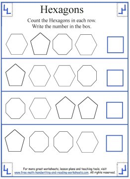 Hexagon Shape Worksheets