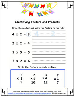how to do multiplication - learning factors and products