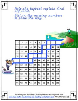 hundreds chart worksheet 3