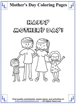 mothers day coloring pages 3