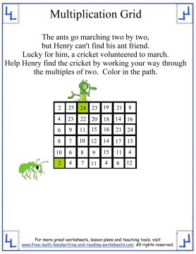 multiplication charts 3