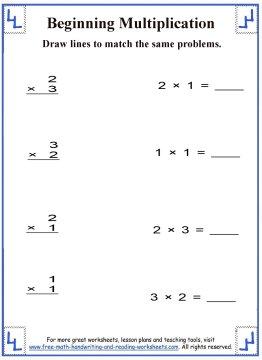 Multiplication for Kids Worksheet 3