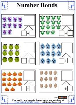 number bonds worksheets 1