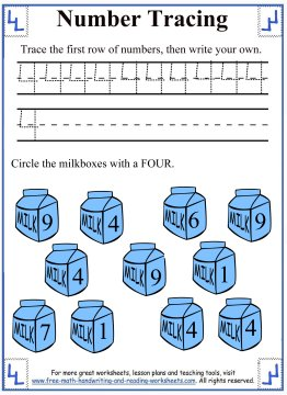 number tracing 5