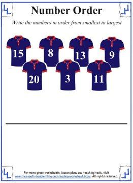 baseball shirt number sequence task