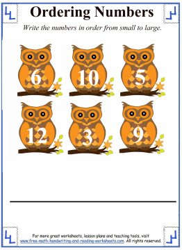 owl ordering number activity