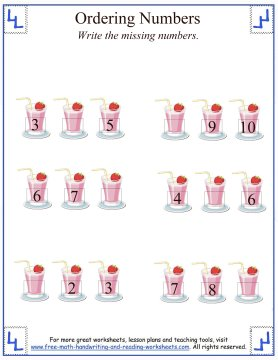 before and after number order activity