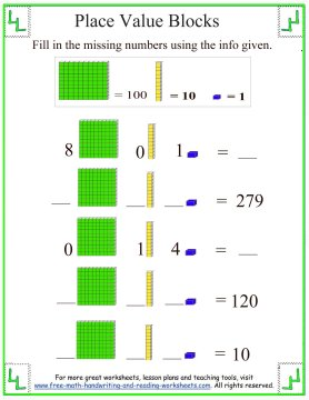 place value blocks 7