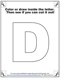 printable alphabet letters d
