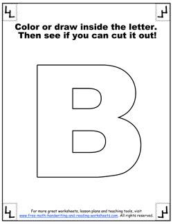 printable alphabet letters b