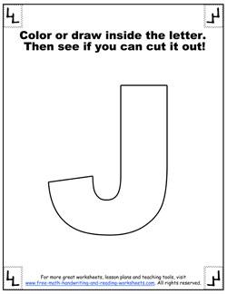 printable alphabet letters j