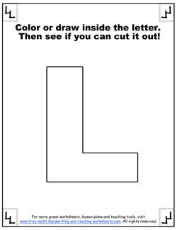 printable alphabet letters l