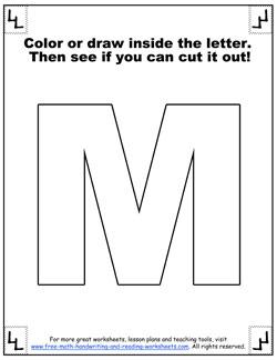printable alphabet letters m