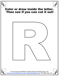 printable alphabet letters r