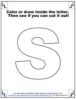 printable alphabet letters s