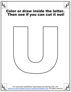 printable alphabet letters u