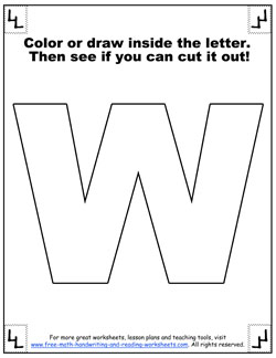 printable alphabet letters w