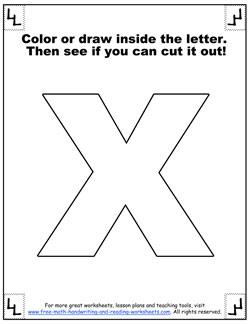 printable alphabet letters x
