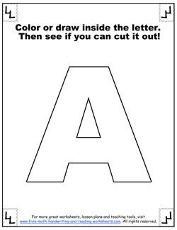 printable alphabet letters a