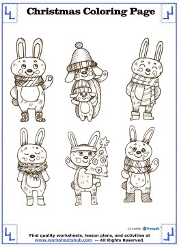 printable christmas coloring pages 13