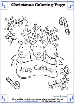printable christmas coloring pages 16