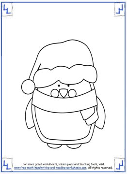 printable christmas coloring pages 10