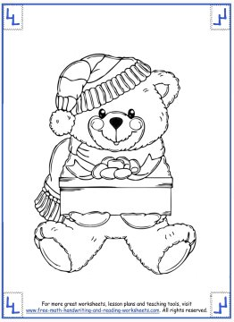 printable christmas coloring pages 3