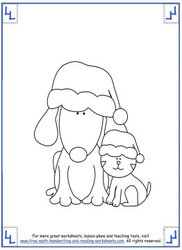 printable christmas coloring pages 7