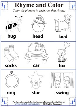 how to explain rhyming words