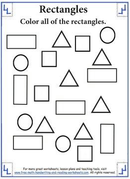 Shape Worksheets - Rectangles
