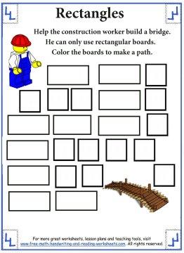 Shape Worksheets Rectangles