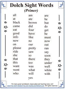 sight words list 2