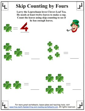 skip counting by fours 1