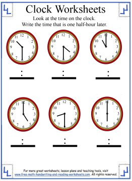 teaching how to tell time worksheets