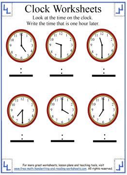 telling time worksheet 3