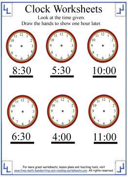 telling time worksheet 5