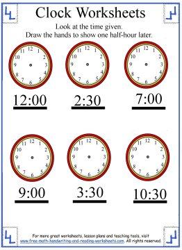 telling time worksheet 6