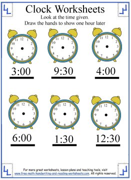 telling time worksheet 8