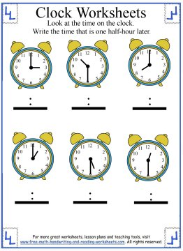 telling time worksheet 1