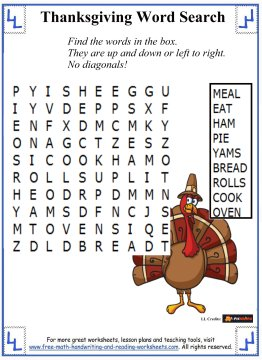 thanksgiving word search 1