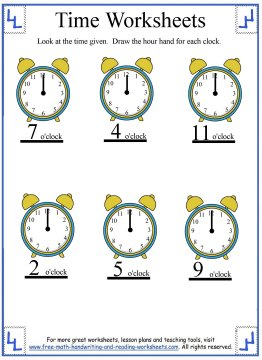 time worksheets 2