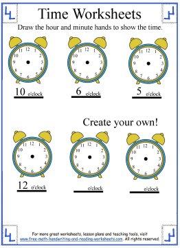 time worksheets 3