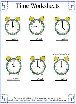 time worksheets 4
