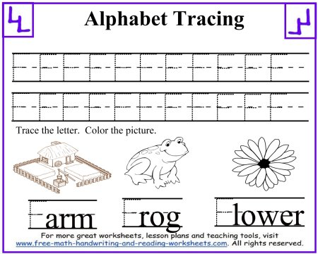 Tracing Letters - Uppercase A-F
