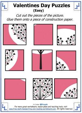 valentine puzzles prek 4th grade activities. Black Bedroom Furniture Sets. Home Design Ideas